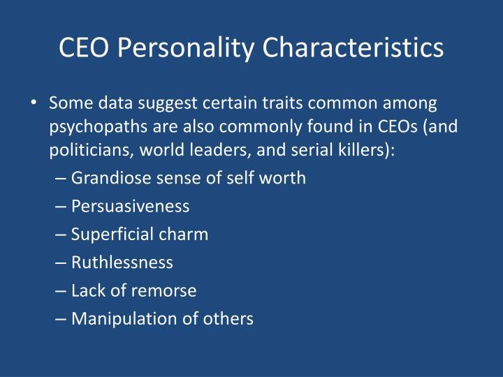 CEO Personality Characteristics