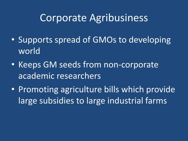 Corporate Agribusiness