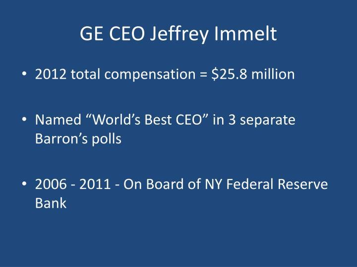 GE CEO Jeffrey Immelt