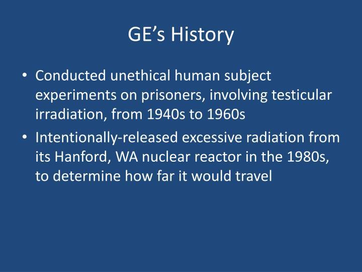 GE's History