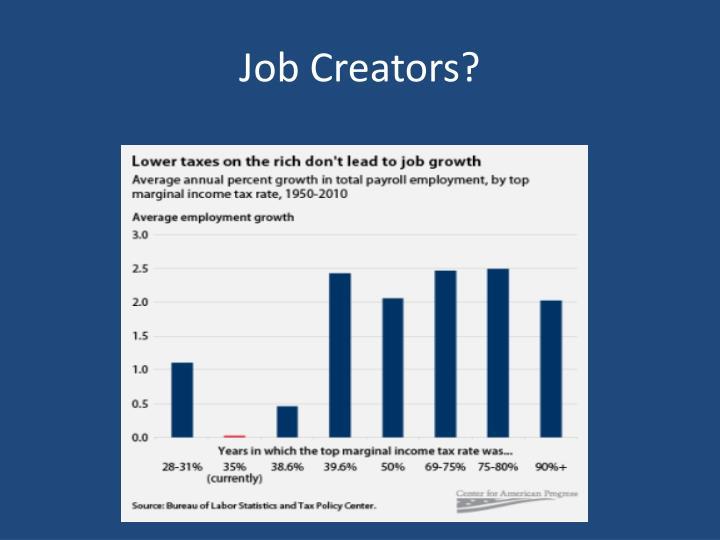 Job Creators?
