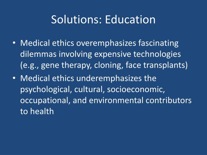 Solutions: Education