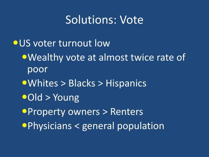 Solutions: Vote