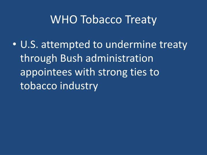 WHO Tobacco Treaty