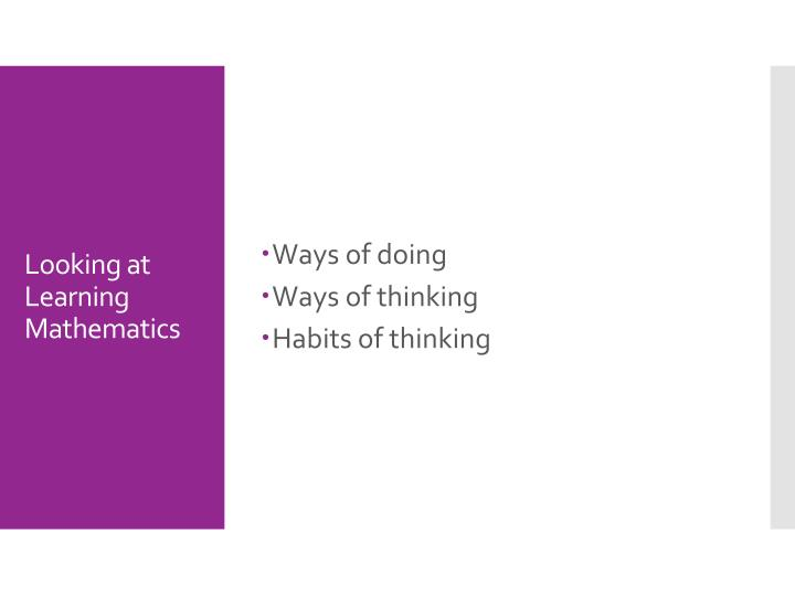 Ways of doing