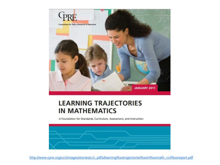http://www.cpre.org/ccii/images/stories/ccii_pdfs/learning%20trajectories%20in%20math_ccii%20report.pdf