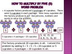 how to multiply by five 5 word problem