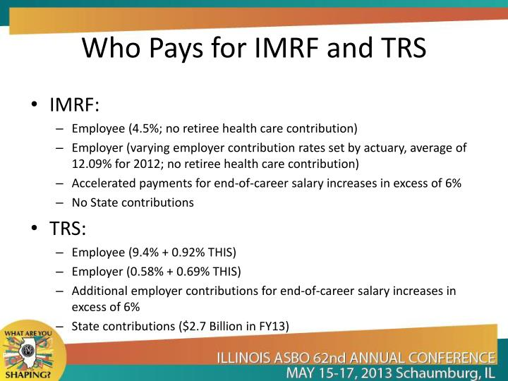 Who Pays for IMRF and TRS