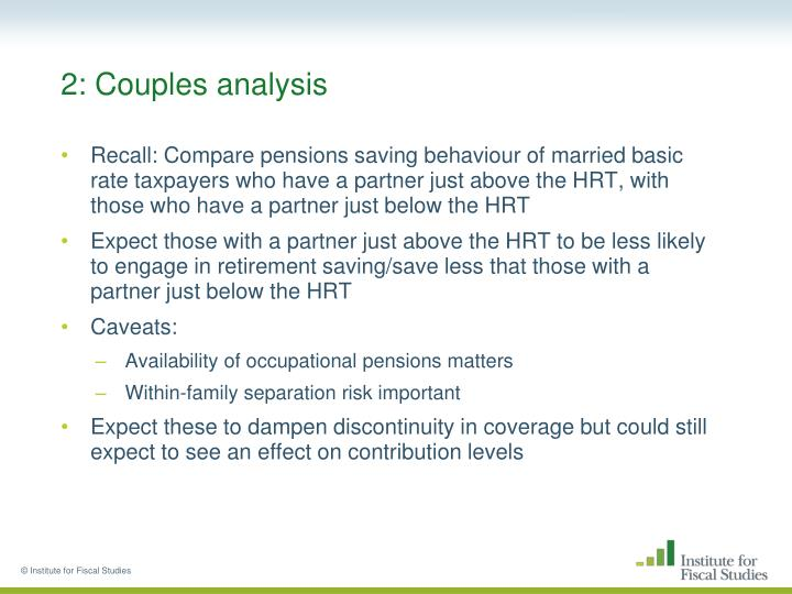 2: Couples analysis