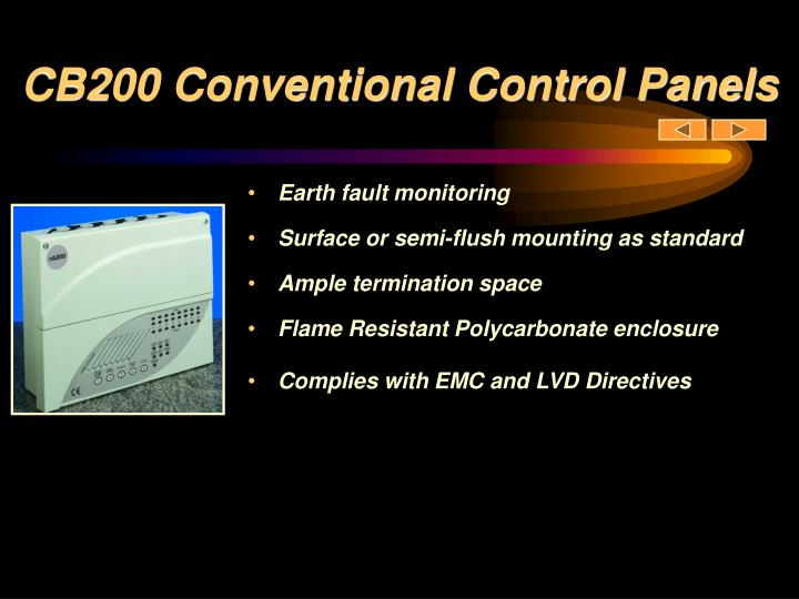 CB200 Conventional Control Panels