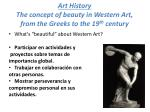 art history the concept of beauty in western art from the greeks to the 19 th century
