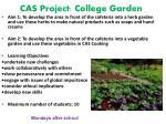 cas project college garden