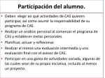 participaci n del alumno