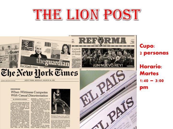 THE LION POST
