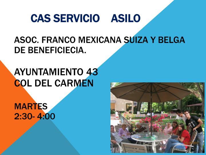 CAS SERVICIO    ASILO