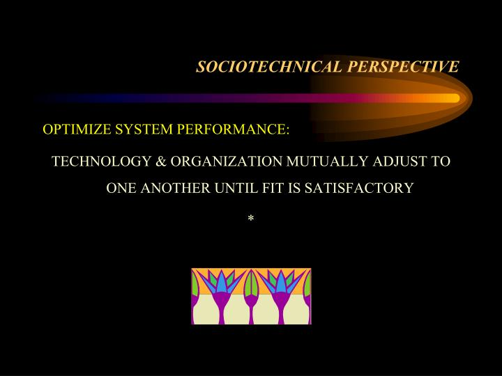 SOCIOTECHNICAL PERSPECTIVE