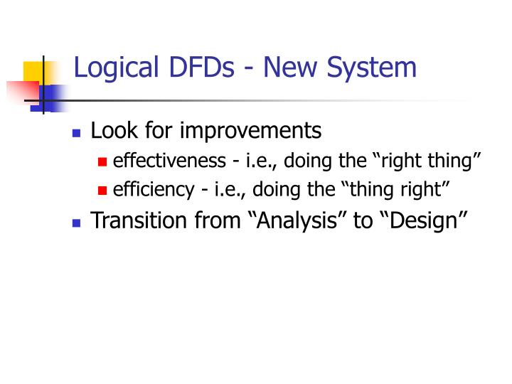 Logical DFDs - New System