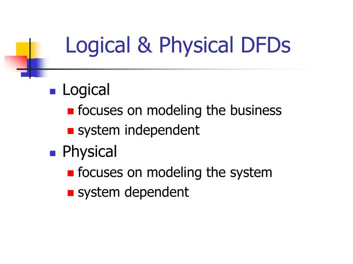 Logical & Physical DFDs