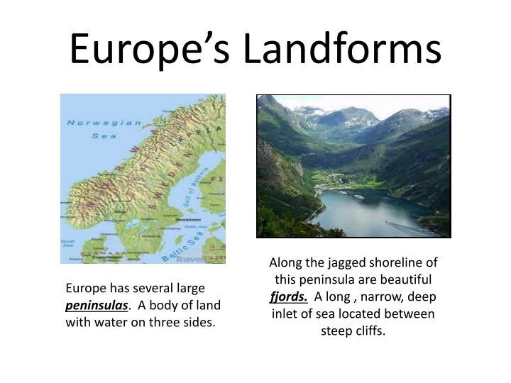 Europe's Landforms