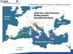 selected cruise itineraries mediterranean