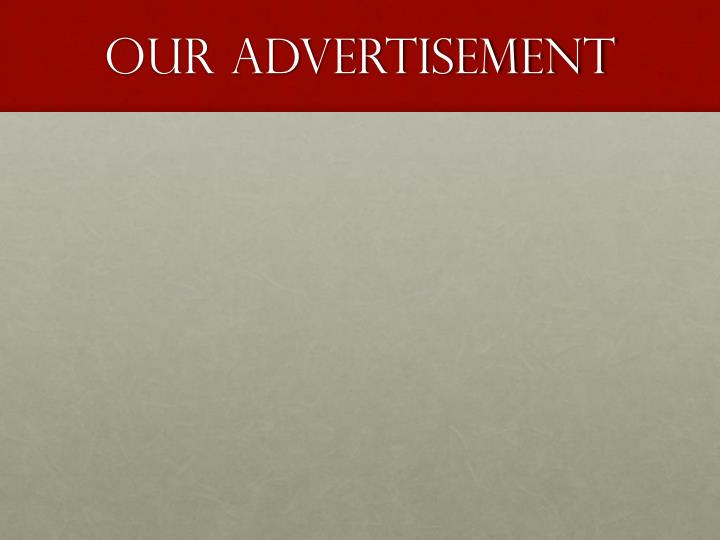 Our Advertisement