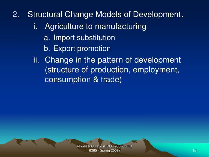 Structural Change Models of Development