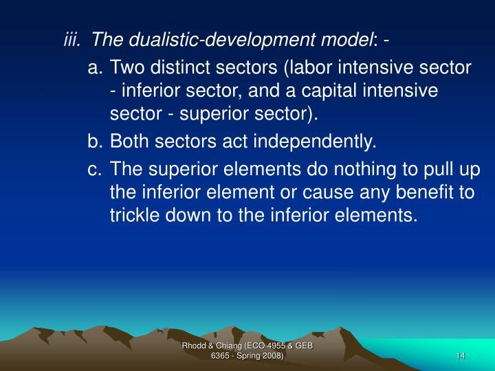 The dualistic-development model