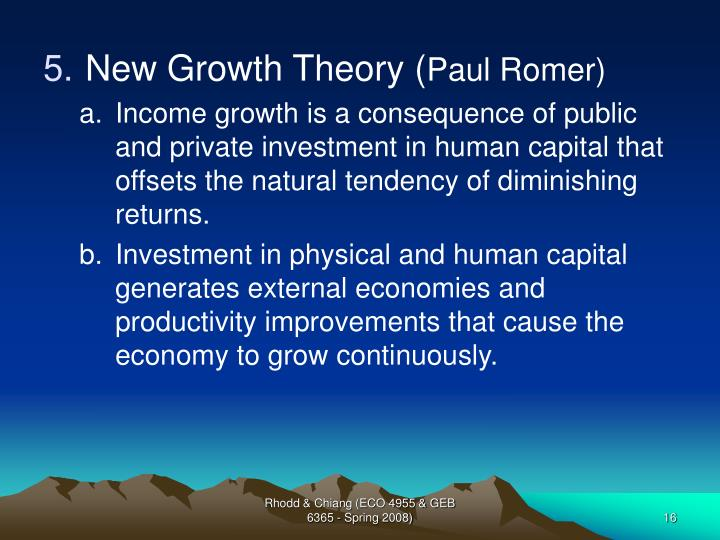 New Growth Theory (