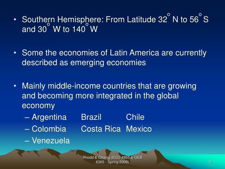 Southern Hemisphere: From Latitude 32