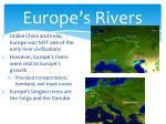 europe s rivers