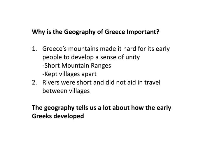 Why is the Geography of Greece Important?
