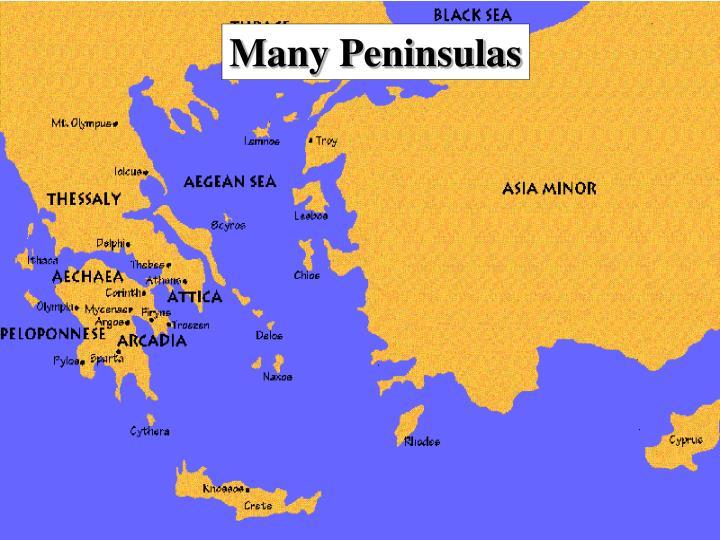 Many Peninsulas