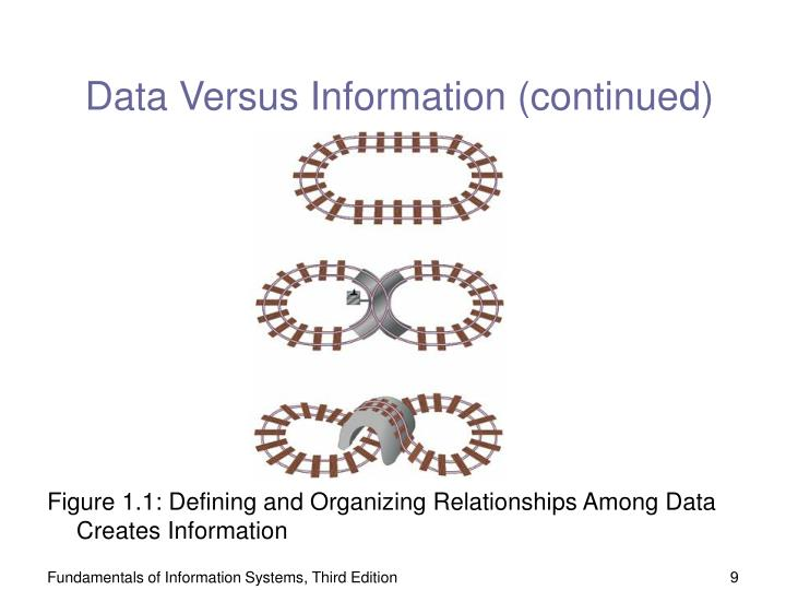 Data Versus Information (continued)