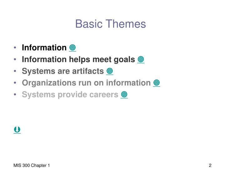 Basic Themes