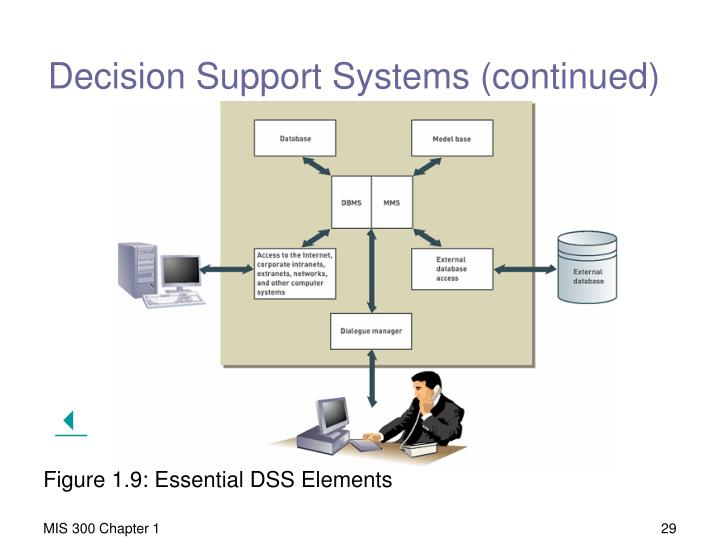 Decision Support Systems (continued)