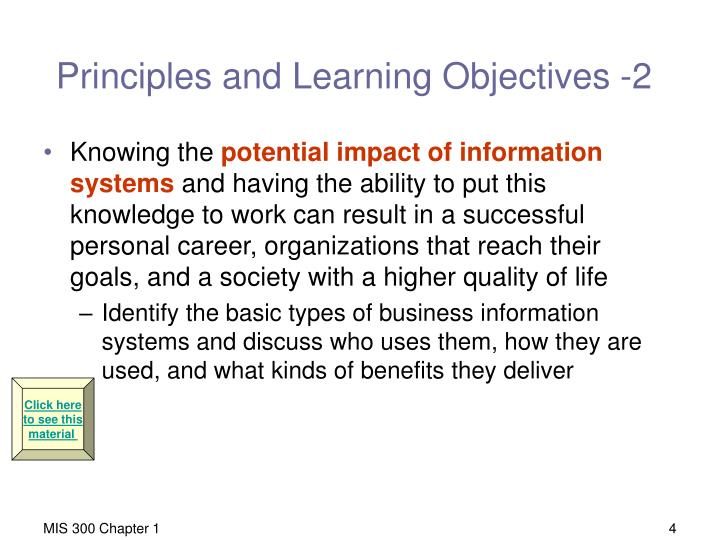 Principles and Learning Objectives -2