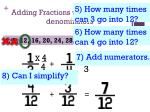 adding fractions with different denominators2