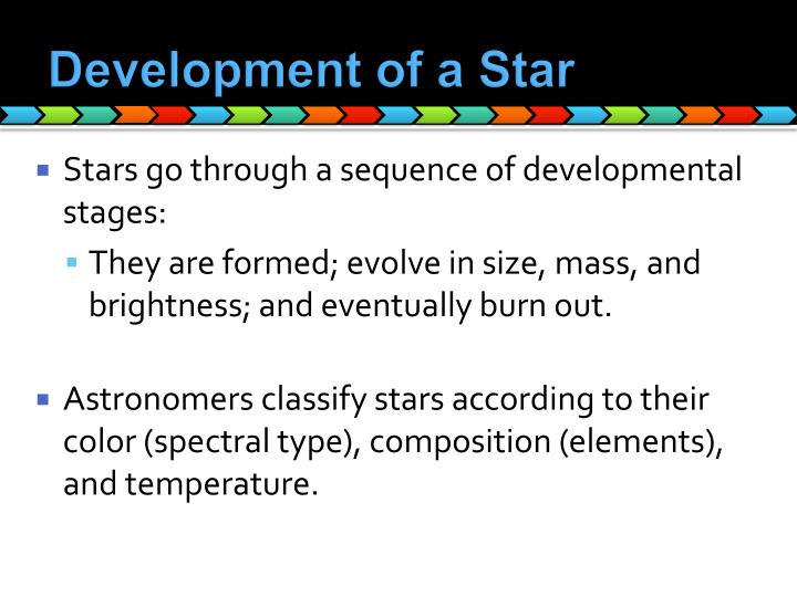 Development of a Star