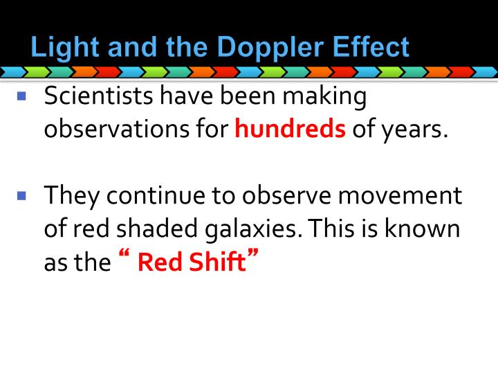 Light and the Doppler Effect