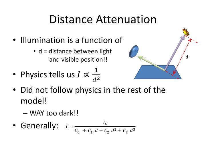 Distance Attenuation