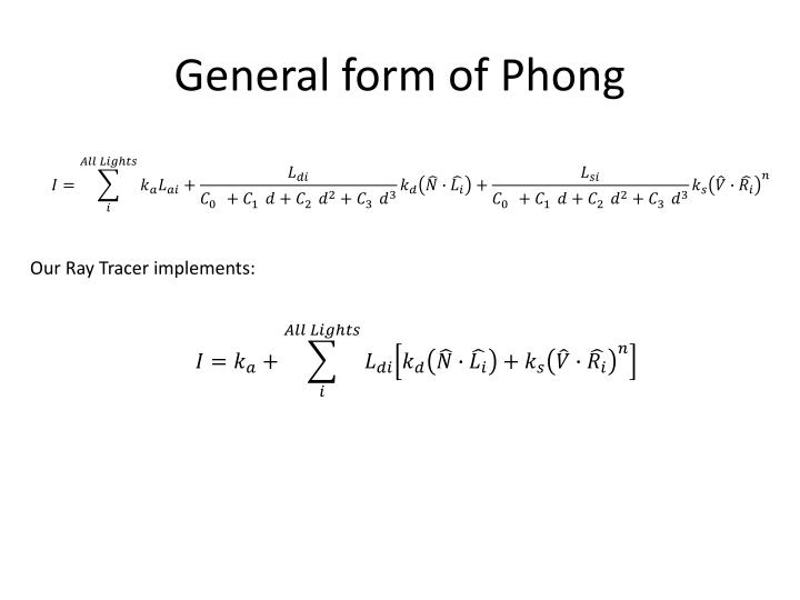 General form of