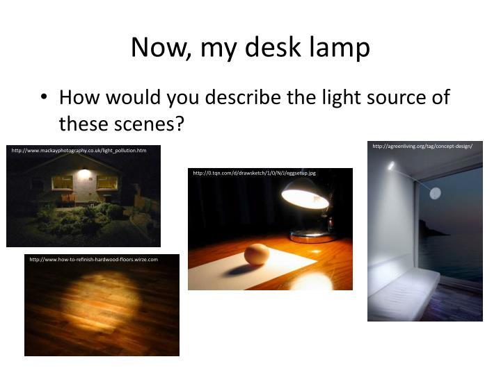 Now, my desk lamp