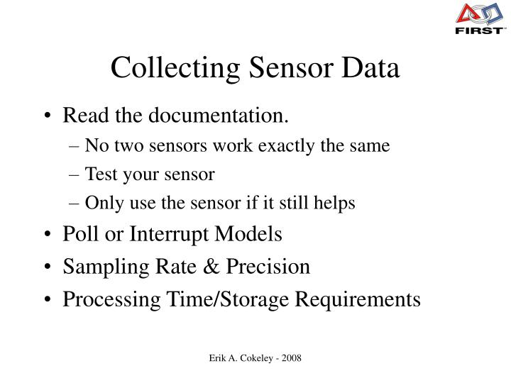 Collecting Sensor Data