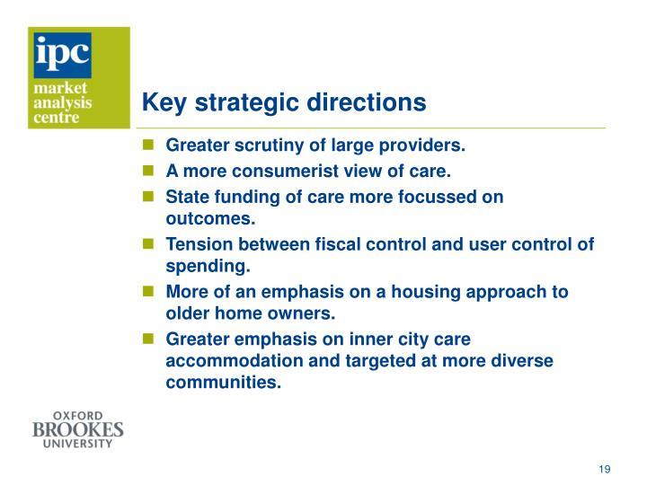 Key strategic directions