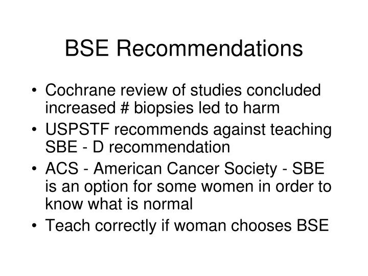BSE Recommendations