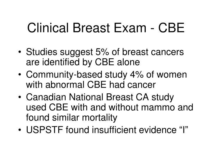 Clinical Breast Exam - CBE