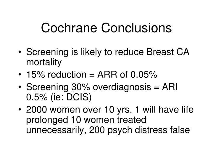 Cochrane Conclusions