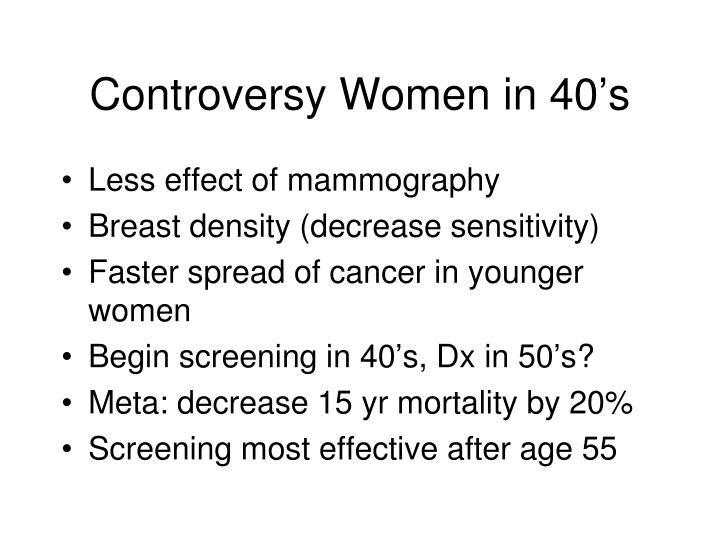 Controversy Women in 40's