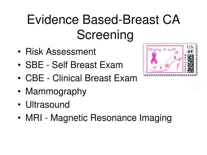 Evidence Based-Breast CA