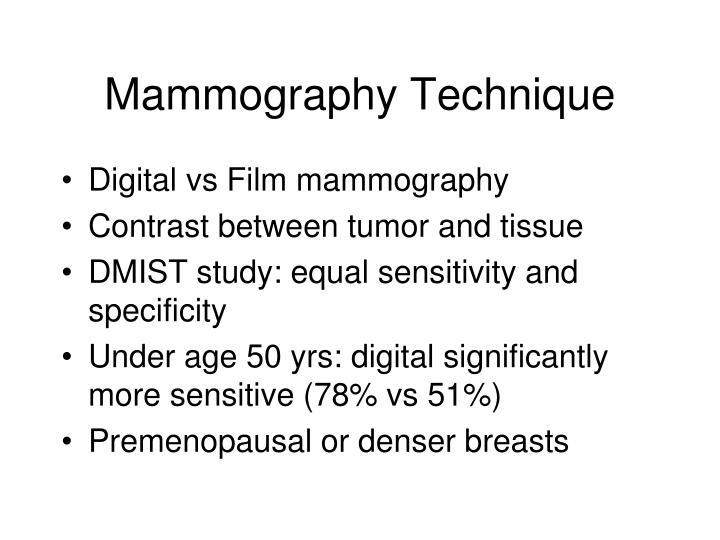 Mammography Technique